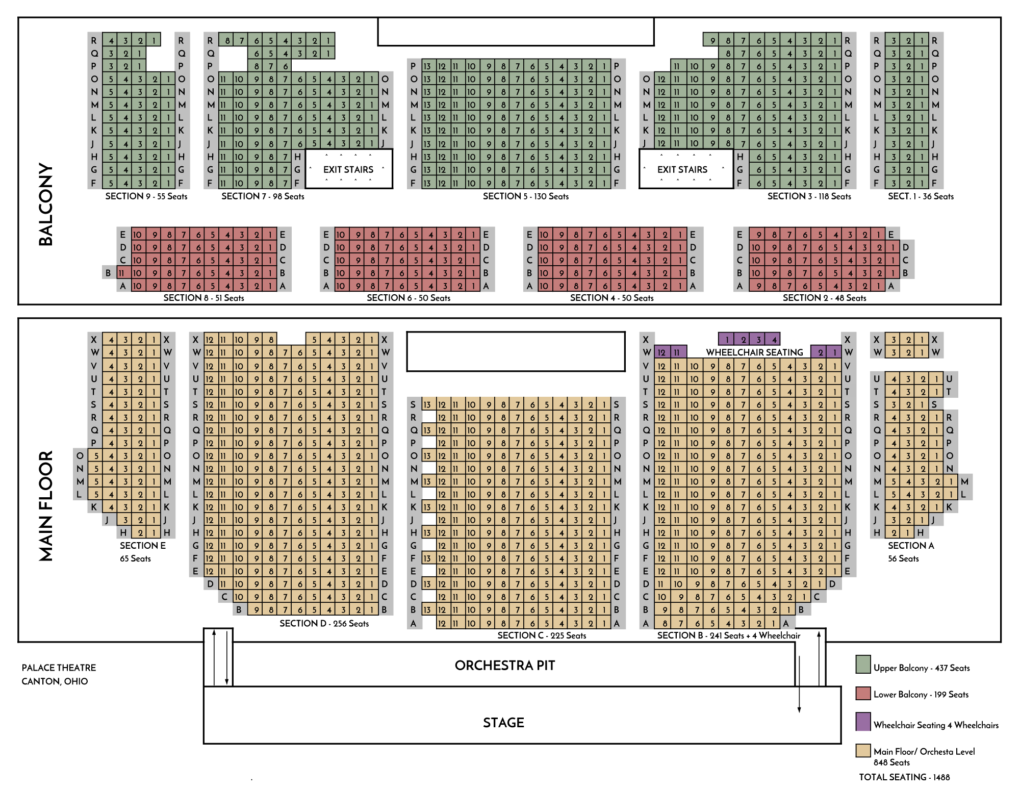 Seating Chart Canton Palace Theatre